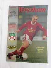 Wrexham v Walsall F.A cup round one November 1993