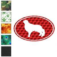 English Toy Spaniel Oval Dog Decal Sticker Choose Pattern + Size #3662