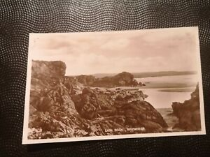 VINTAGE POSTCARD ANGLESEY - LION ROCK, RHOSNEIGR REAL PIC.  EARLY 1900's.