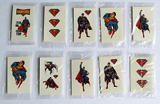 Super man and Superman 10 Tattoos Party Favours