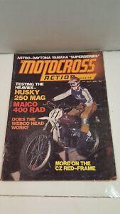 MOTOCROSS ACTION July 1974 ASTRO DAYTONA YAMAHA / HUSKY 250 MAG