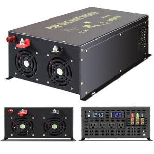 8000W Pure Sine Wave Inverter 12V/24V/36/48V DC to 120/240V Solar Power Inverter