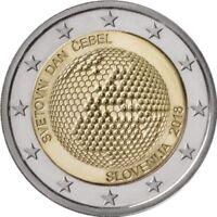 """Slovenia 2 euro coin 2018 """"World Bee Day"""" UNC"""
