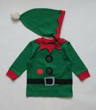 Next Christmas Set Top and Hat Green Elf With Sound Size 6-9mths