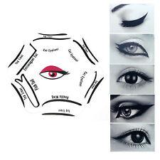 Nuevo 6 en 1 Ojo de Gato Líquido Delineador de ojos de la plantilla Conjunto de guía de maquillaje herramienta Liner Quick UK