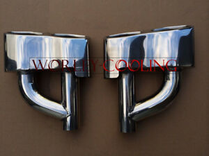 """2.1"""" inlet Stainless steel Exhaust Tip tailpipe Mercedes Benz AMG E63 S65 look"""