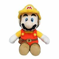 Super Mario Maker 2 Builder Mario Plush Doll Stuffed Toy Size S w/ Tracking NEW