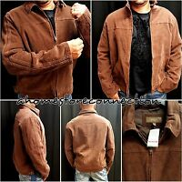 NWT MENS BKE BROWN ZIP UP JACKET COAT FROM BUCKLE ROCK REVIVAL STORE~L LARGE