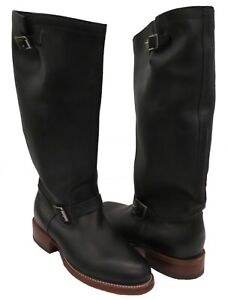 "Men's 18"" Original Chippewa Tall Engineer Boot Sz 12 E 4578BLK Tipton Black NEW"