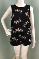 47d32a29f4f NWT Womens Juicy Couture Sleeveless Track Knit Butterfly Print Romper Sz  Small