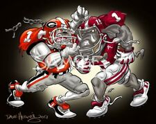 University Of Georgia Bulldogs And Alabama Football 2018 National Champions Art