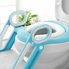 Kids Potty Training Seat Anti-Skip w/ Step Stool Ladder Toilet Chair for Toddler