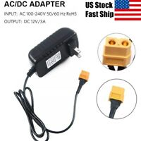 AC to DC Power Adapter 12V 3A XT60 Plug For Tiny Whoop 1S LiPo Battery Charger