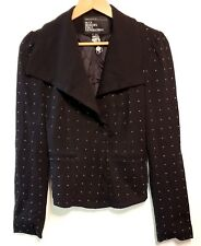 NEW URBAN BEHAVIOR Sz M black crop jacket blazer studded NEW