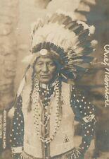 AMERICAN INDIAN CHIEF MANITOU COLORADO ANTIQUE PHOTO POSTCARD RPPC