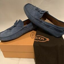 Tod's Driving Shoes Blue Tods 10 (US 11) new laccetto gommini With Box