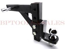 "10"" Adjustable Trailer Drop Ball Mount Hitch Tow Lock Heavy Duty Trailer Kit"