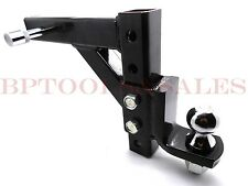"10"" Adjustable Trailer Drop Ball Mount Hitch Tow Lock Heavy Duty Trailer Kit"