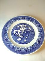 Blue Willow by ROYAL CHINA Willow Ware Vintage 10in Dinner Plate  Underglaze