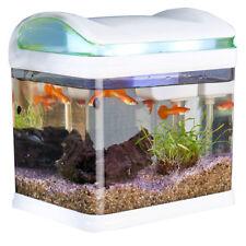 Aquarium: Transport-Fischbecken mit Filter, LED-Beleuchtung und USB, 3,3 Liter