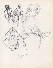 Harry Carmean Original Black Ink Figure Life Drawing Sketches Signed Fine Art