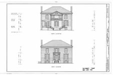 Historic Colonial Williamsburg architectural printed house plans