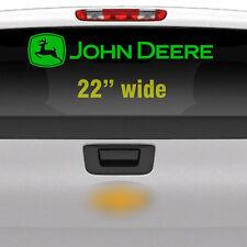"""John Deere 22"""" Green Rear Window, Implement Cart Gator Logo / Decal / Sticker"""