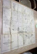 1900 City Map of Washington DC Showing Fatal Medical Cases of Typhoid  Malarial