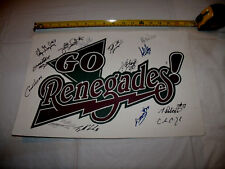 Hudson Valley Renegades MiLB 1999 Champions Team Signed Poster Two Sided Auto