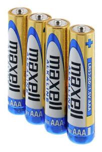 16 MAXELL AAA ALKALINE BATTERIES AKA LR03 MN2400 AM4 LR3 1.5V EXPIRY 11/2023 NEW