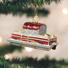 *Pontoon Boat* Party Lake Boating [46059] Old World Christmas Glass Ornament-NEW
