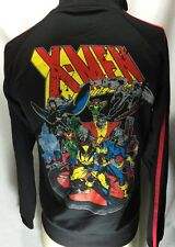 New Marvel Mad Engine Youth Black Zip Up Long Sleeves Distressed Track Jackets L