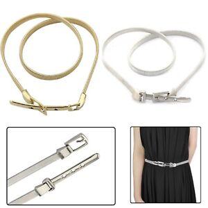 Adjustable Cincher Chain Waist Belt with Metal Buckle for Women Stylish Dress