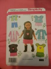 Doll clothes pattern fits 18 in doll Simplicity 1902
