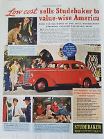 1938 Red Studebaker Sedan Car Sells to Value Wise America  Ad