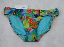 Bnwt Seafolly Australia Paradise Ruched Side Bikini Pant Tropical - UK 12 (R43)