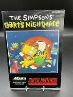 Super Nintendo SNES The Simpsons Bart's Nightmare Instruction Manual Booklet