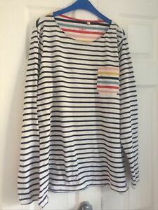 BODEN Striped Long Sleeve Tee Top 16/18/20 See Measurements