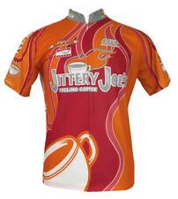JITTERY JOE'S Coffee LOUIS GARNEAU Pro Cycling Team JERSEY ~ L / XL Biking Shirt