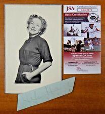 Helen Hayes Signed Vintage Cut with JSA COA