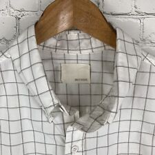 Men's Band of Outsiders (Large) Beige Checked Button Front Long Sleeve Shirt