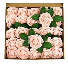 25-50pcs Foam Artificial Rose Heads Flowers Wedding Bride Bouquet Home Decors