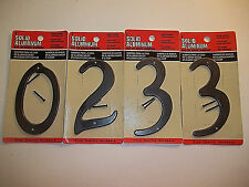 New Old Stock of Four Aluminum House Numbers, Four Inch, Made in India