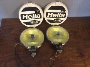 Hella Fog Lights, 162, 6 1/2 Inch Yellow Amber, Germany