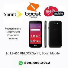 Unlock LG K3 LS450 Sprint, Boost Mobile, Virgin Mobile Remote / Service