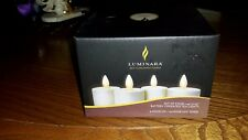 Luminara Set of 4 Battery Operated Tea lights Ivory Remote Control Flameless