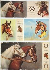 Rice Paper for Decoupage Decopatch Scrapbook Craft Sheet Vintage Horse Club