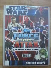Star Wars Force Attax Sammelalbum Mappe Serie 3 fast komplett + LE 1 3 4