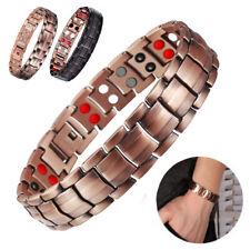 4 in 1 Men Armband Bracelet Titanium Magnetic Energy Germanium Health Bio Copper