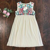NEW Anthropologie by Gryphon Size M Embroidered Gauze Sunny Dress